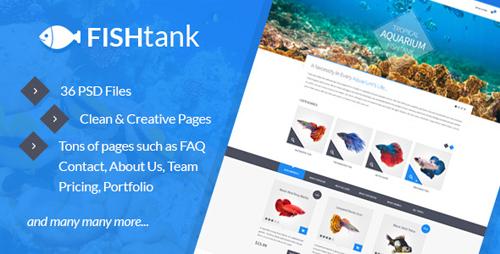 FishTank - Creative eCommerce PSD Template 9358598