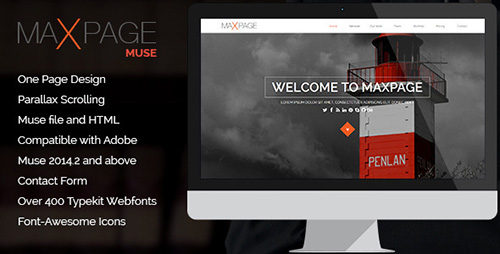 ThemeForest - Maxpage v1.0 - One Page MUSE Template - 9997181