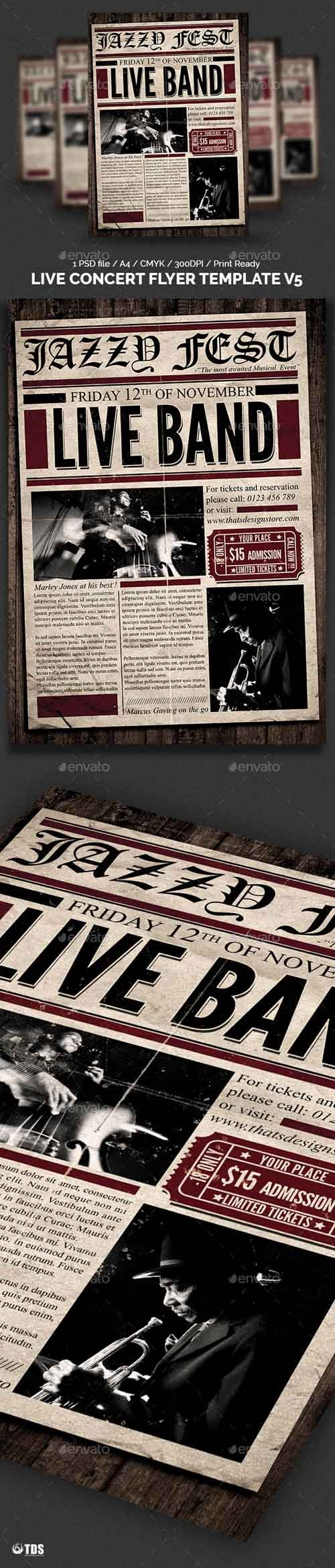 Live Concert Flyer Template V5 11315569