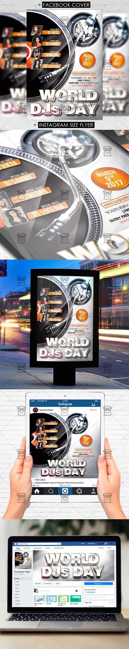 Flyer Template - World DJS Day Vol 2