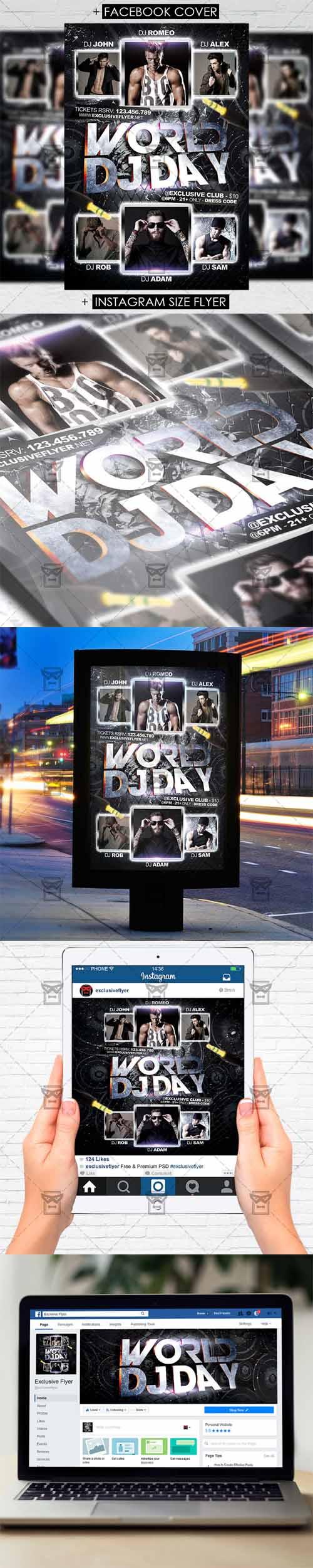 Flyer Template - World DJ Day