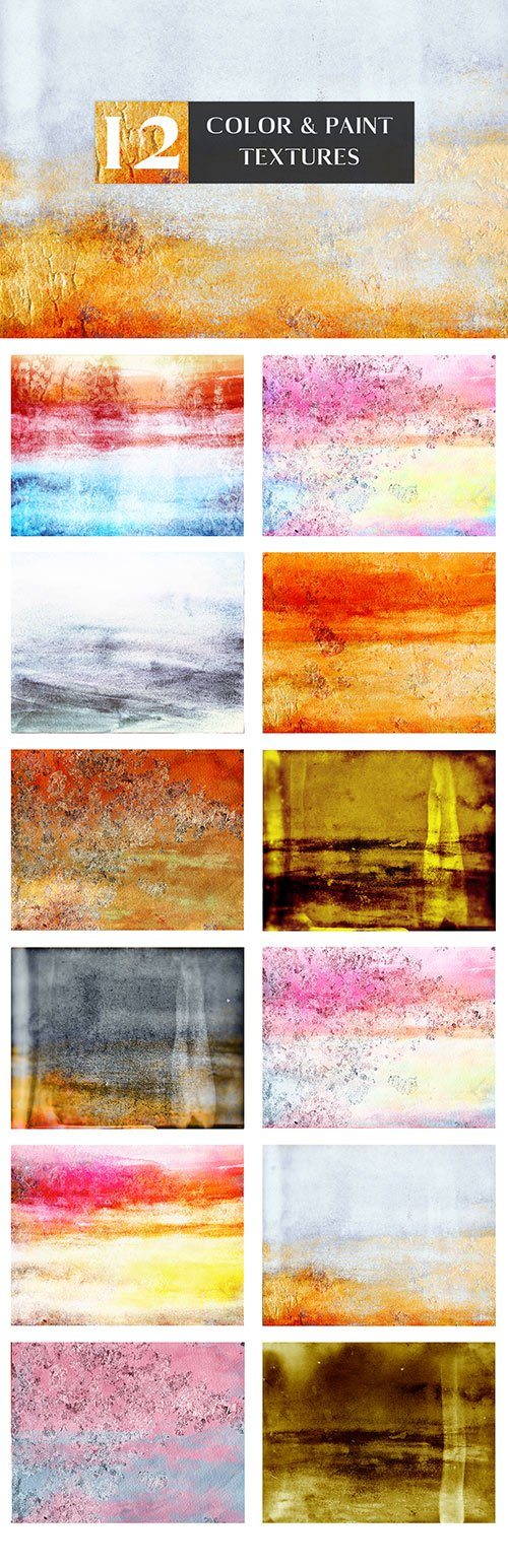 12 Color And Paint Textures