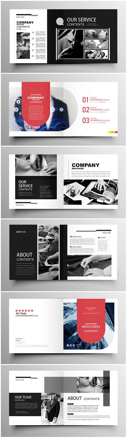 Brochure template vector layout design, corporate business annual report, magazine, flyer mockup # 203