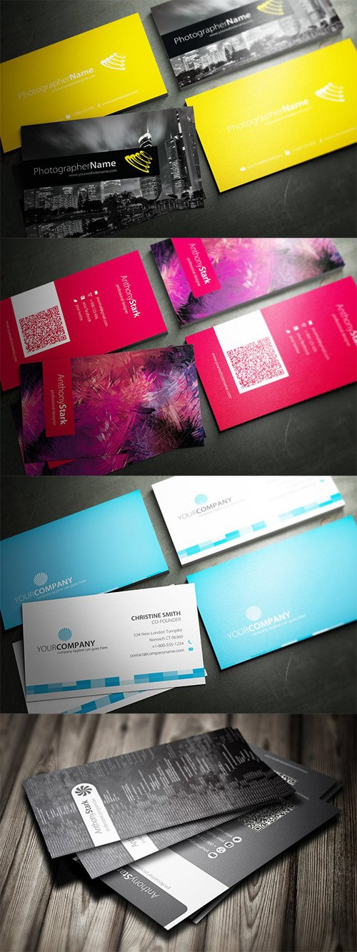 4 Business Card Set