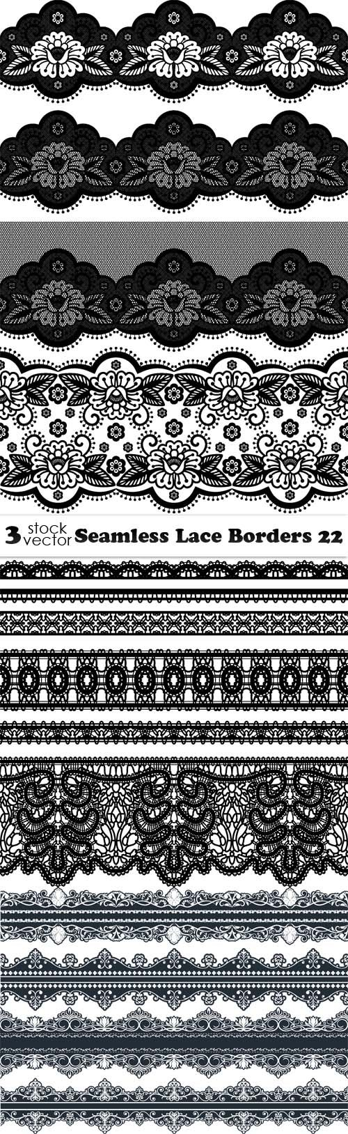 Vectors - Seamless Lace Borders 22