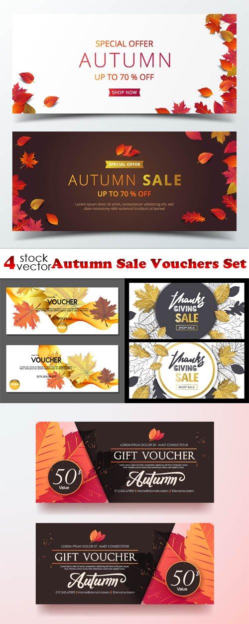 Vectors - Autumn Sale Vouchers Set