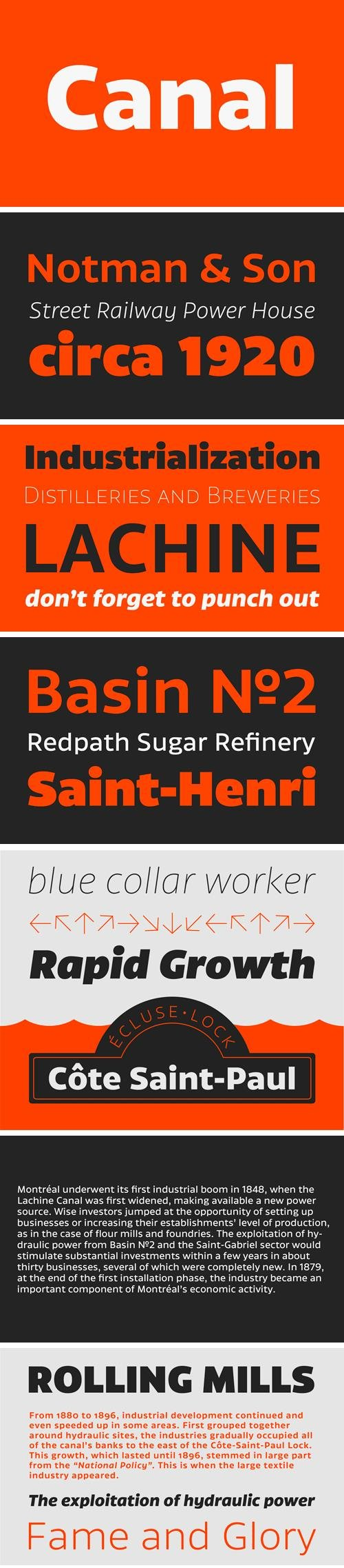 Canal Font Family