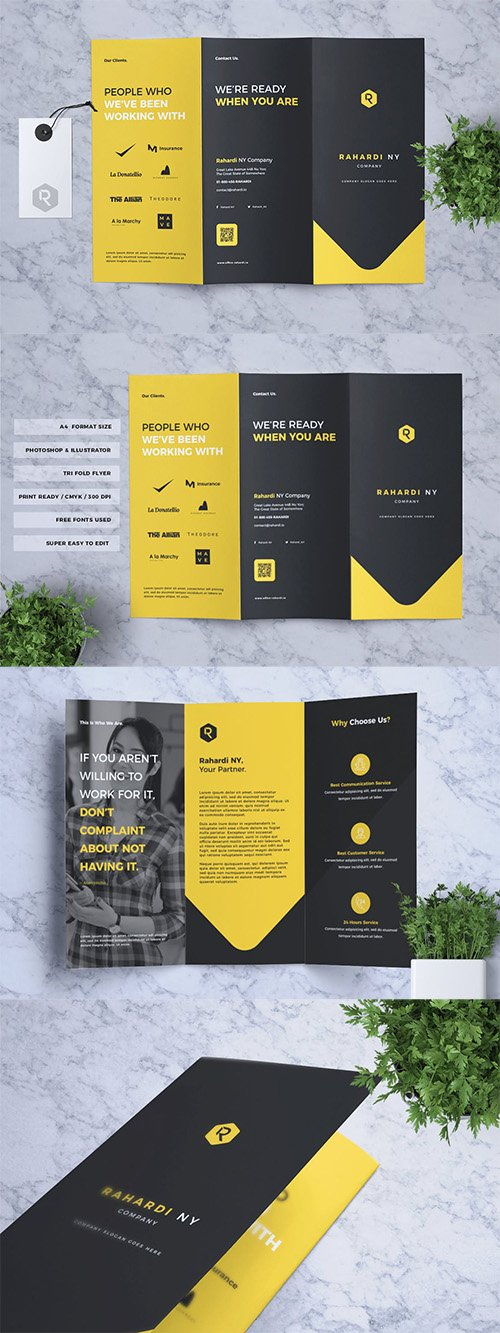 Corporate Business Trifold Flyer Vol. 03