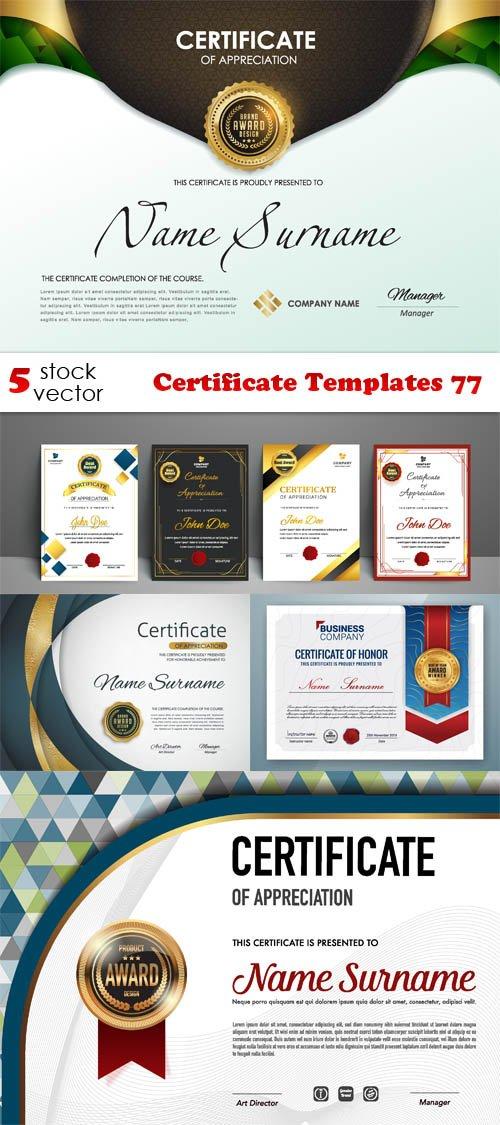 Vectors - Certificate Templates 77