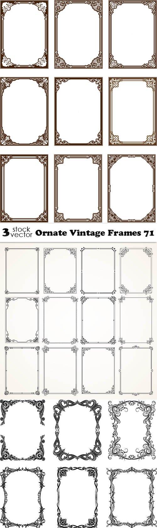 Vectors - Ornate Vintage Frames 71