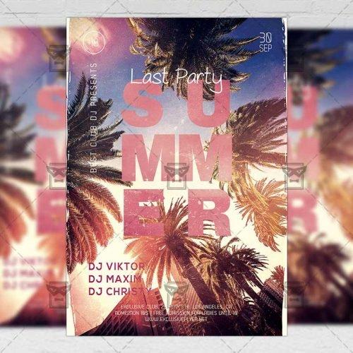 Seasonal A5 Template - Last Summer Party Flyer