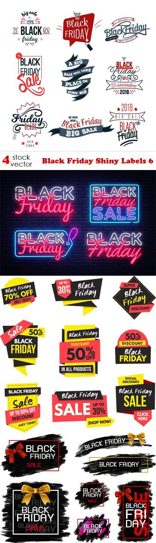 Vectors - Black Friday Shiny Labels 6