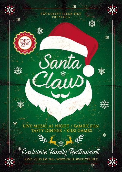 Seasonal Flyer Template - Santa Claus