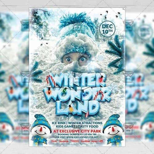 Seasonal A5 Flyer/Poster Template - Winter Wonderland