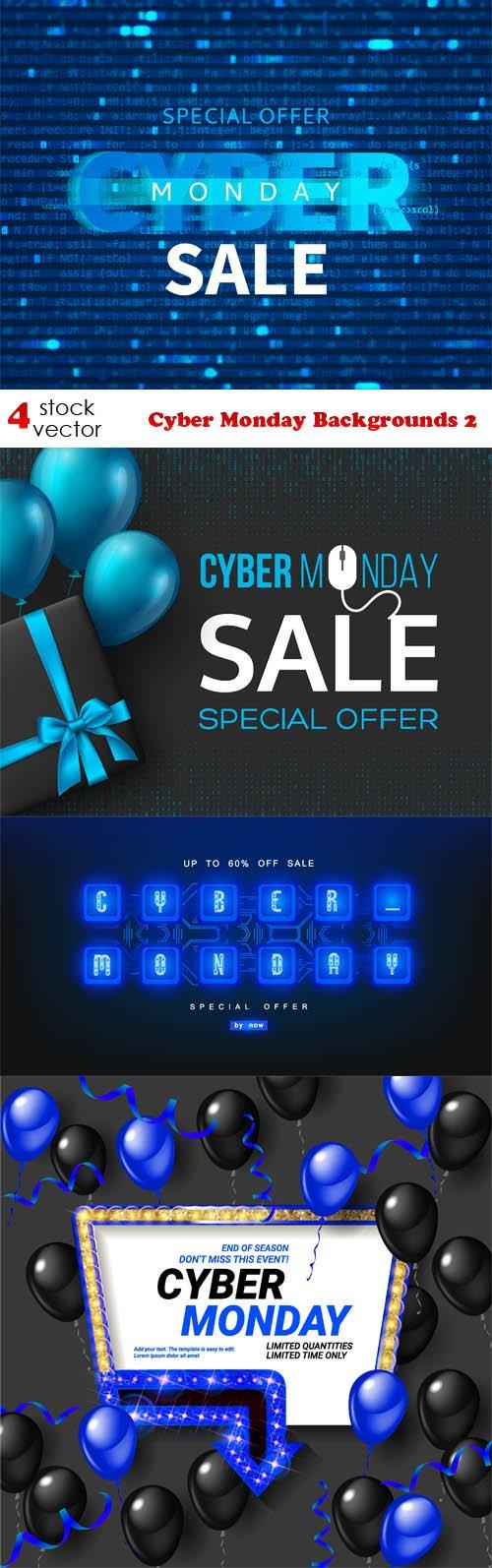 Vectors - Cyber Monday Backgrounds 2