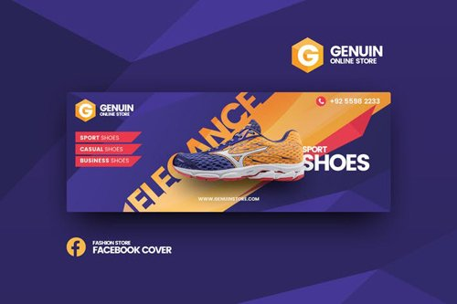 Genuin shoes facebook cover template