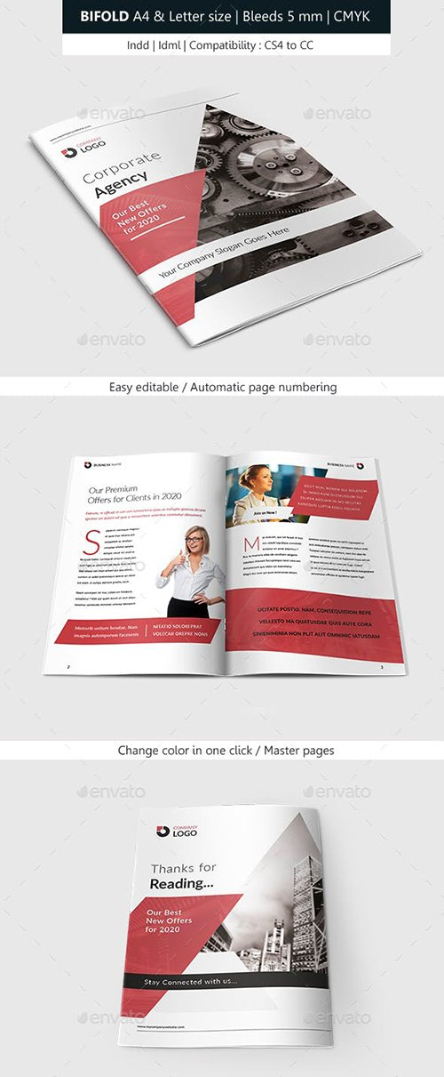 GraphicRiver - Bifold Brochure Corporate Indesign Template 22640940