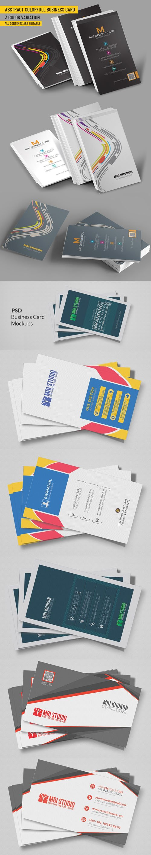 Abstract Colorful Business Cards [Ai/EPS/PSD]