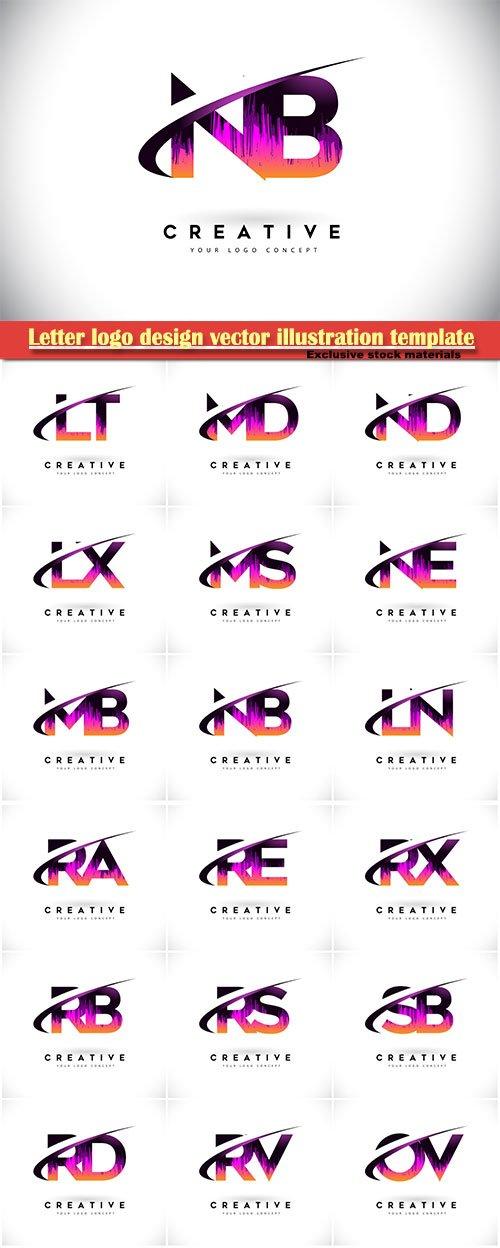 Letter logo design vector illustration template # 4