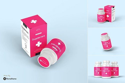 Supplement Bottle Mockup vol.1