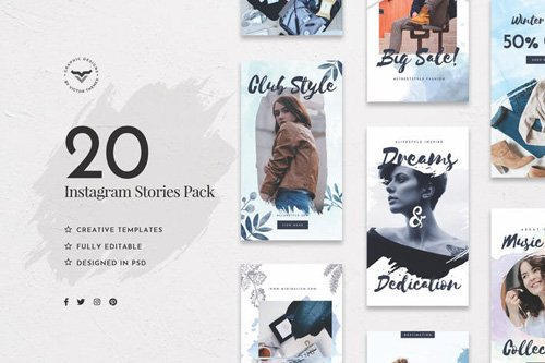Instagram Stories Social Media Template - 55RXPS