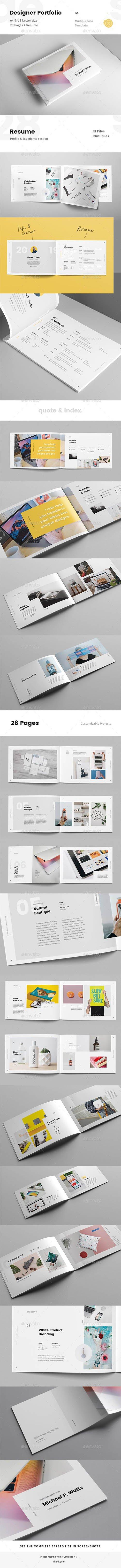 GraphicRiver - Landscape Creative Portfolio for Designers with Resume 23021146