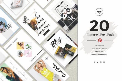 Pinterest Social Media Template - CGT9ZR