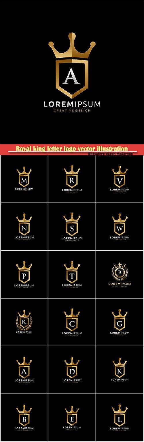 Royal King letter logo vector illustration