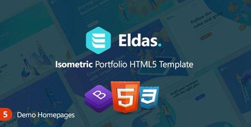 ThemeForest - Eldas v1.0 - Isometric Portfolio HTML5 Template - 23275398
