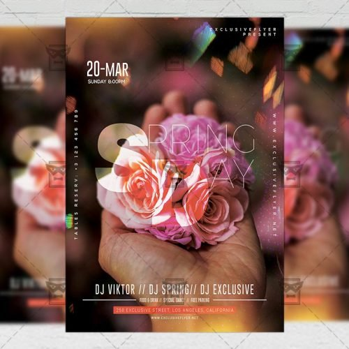 Seasonal A5 Template - Spring Day Flyer