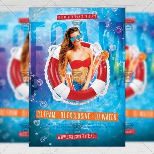 Club A5 Template - Foam Party Night Flyer