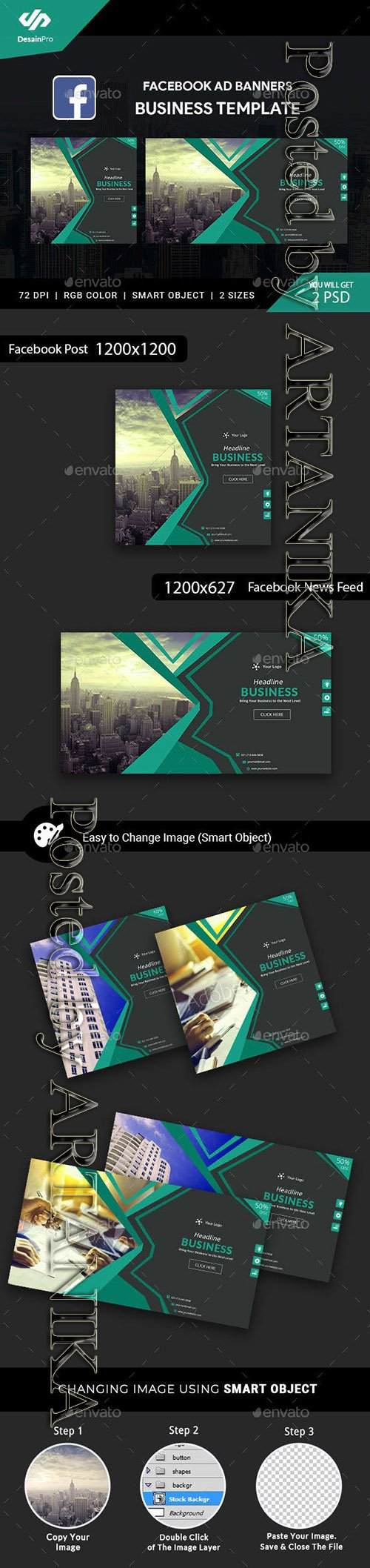 GraphicRiver - Corporate Business FB Ad Banners - AR 21666311