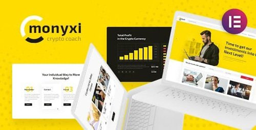 ThemeForest - Monyxi v1.1 - Cryptocurrency Trading Business Coach WordPress Theme - 22219932