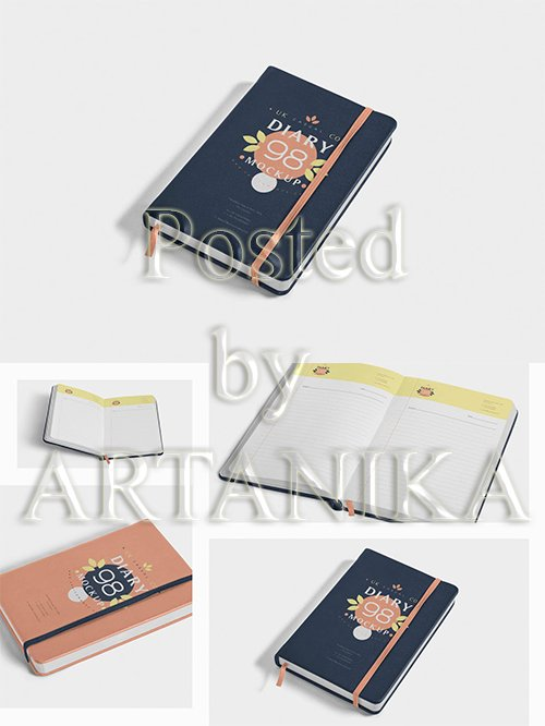 Open and Closed Notebook Mockups