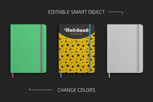 CreativeMarket - Notebook Mockup Set 5064090