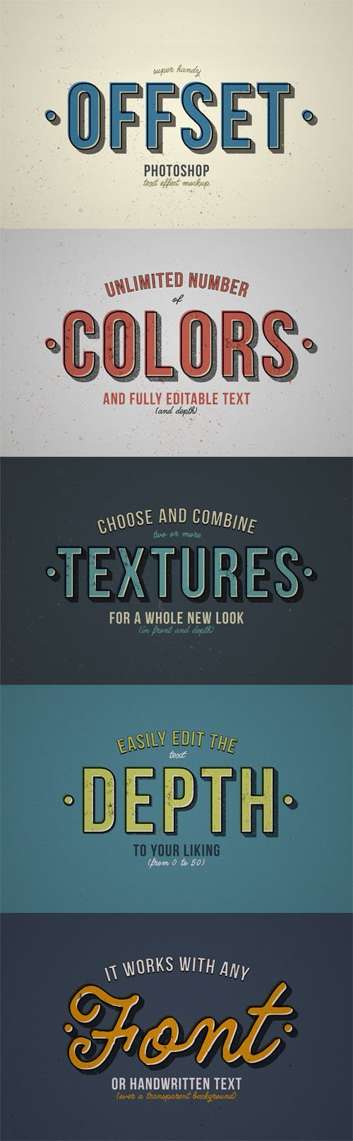 Offset Photoshop Text Effect Mockup