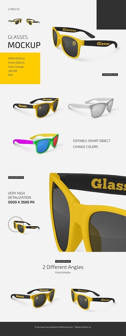 CreativeMarket - Glasses Mockup Set 6019002