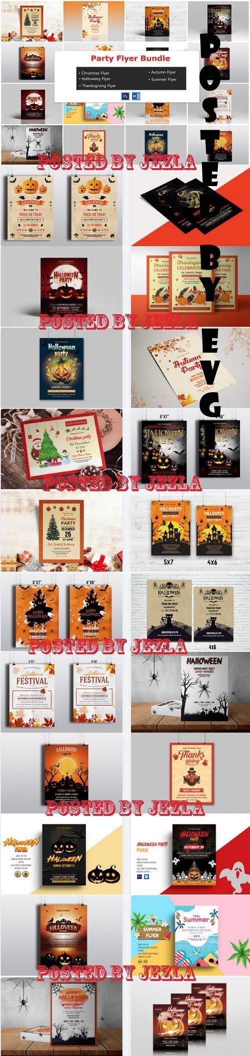 Printable Party Flyer Bundle - 22 Premium Graphics