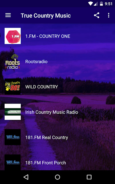 Country music apps - True Country Music