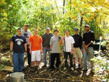 Bob and Blake with one of our student work groups
