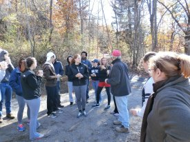 Bob Andronici giving volunteers their marching orders and safety instructions