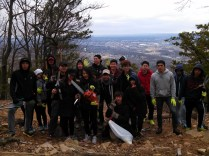 Group photo at Lynch overlook