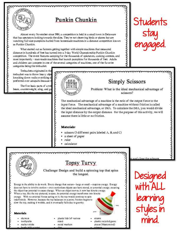1474422731 demoPreviewEnergyWorkSimpleMachines Page 5 - ENERGY, WORK & SIMPLE MACHINES - Demo, Lab and Science Stations