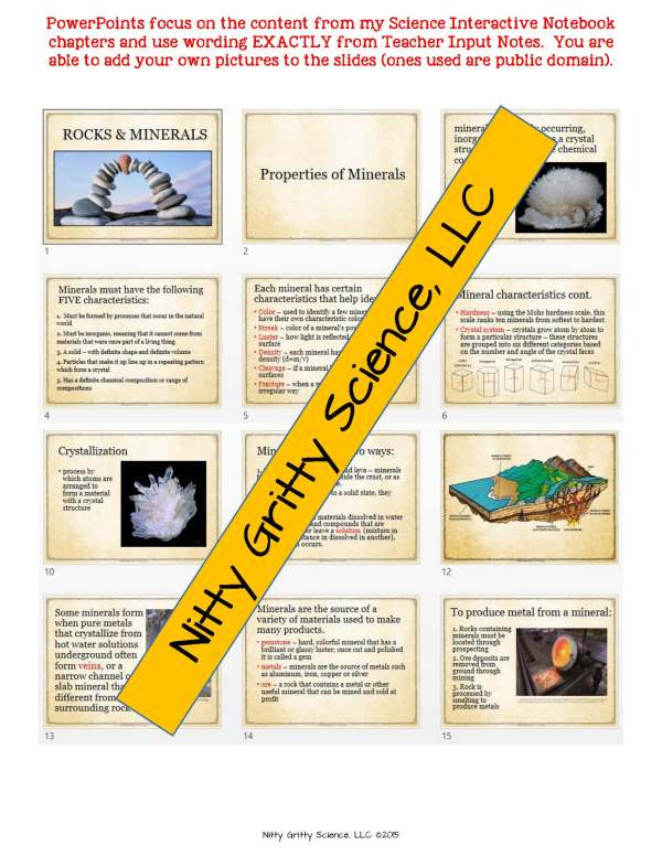 2165218 Page 5 - Rocks & Minerals: Earth Science Notes, PowerPoint & Chapter Test ~ EDITABLE!