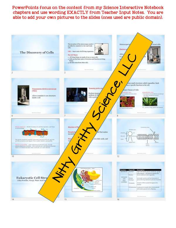 2346947 Page 5 - Cell Structure and Function: Life Science Notes, PowerPoint and Test ~ EDITABLE!