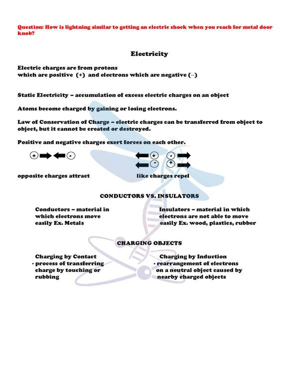 2411412 Page 4 - Electricity and Magnetism: Physical Science Notes, PowerPoint & Test ~ EDITABLE