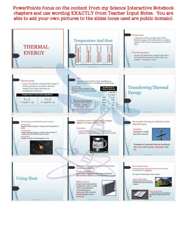 2417375 Page 5 - Thermal Energy: Physical Science Notes, PowerPoint & Test ~ EDITABLE