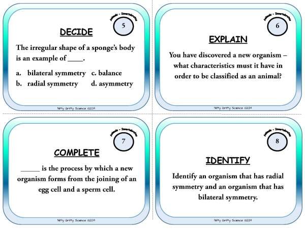 Animal Diversity Invertebrates Page 04 - Animal Diversity: Invertebrates - Life Science Task Cards