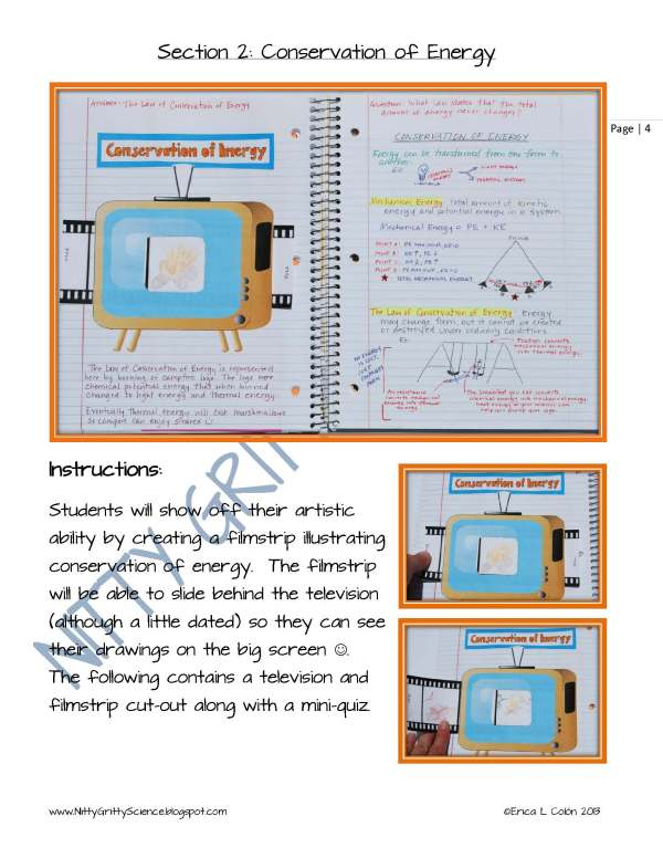 Demo Energy Work and Simple Machines Page 4 - Energy, Work & Simple Machines