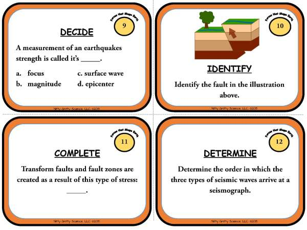 Forces that Shape the Earth Page 05 - Forces that Shape the Earth: Earth Science Task Cards